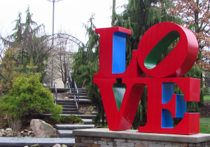LOVE statue. Photo Courtesy of the AAHC.